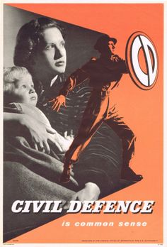 1950s UK, propaganda poster issued by the Central Office of Information. Issued as part of a government campaign to recruit volunteers for the Civil Defence service.