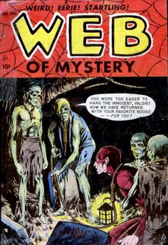 Comic Book Cover For Web of Mystery #27