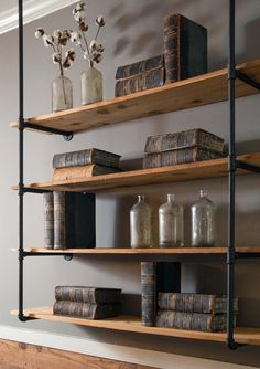 Floating Oak Industrial Shelves | The Best Wood Furniture