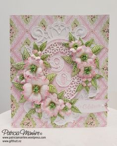 Pretty in Pink Flowering Dogwood – Patricia's Creative Corner Flower Stamp, Flower Cards, Heartfelt Creations Cards, Spellbinders Cards, Beautiful Handmade Cards, Mothers Day Cards, Flower Tutorial, Cool Cards, Creative Cards