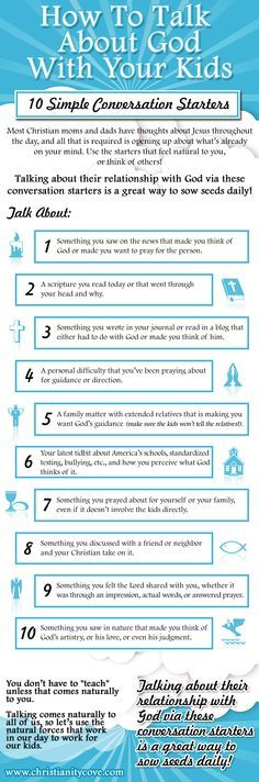 How to Talk About God With Your Kids-- 10 Simple Conversation Starters- would be great for a journal question