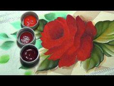 Marcos Rodrigues Pintura de rosa em tecido Parte 2 - YouTube