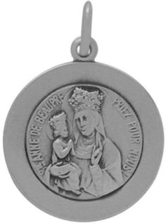 Sterling Silver St Anne De Beaupre Religious Medal Medallion with chain  22 * Click image to review more details.