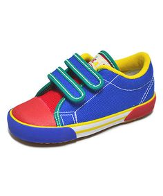 Too cute! #zulilyfind! Blue & Yellow Skippy-V Canvas Sneaker by Peaks #zulilyfinds