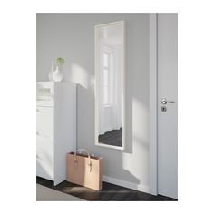 NISSEDAL Mirror IKEA The mirror can be angled if you choose to mount it with the enclosed hinges. Can be hung horizontally or vertically.