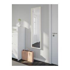 NISSEDAL Espejo, blanco blanco 40x150 cm