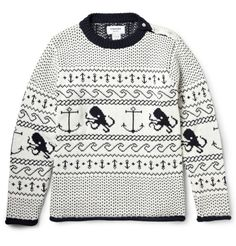 http://chicerman.com  beyondfabric:  Thom Browne Fair Isle Sweater  #MENSUIT #TAILORSUIT