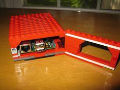 Photo of actual Raspberry Pi LEGO case