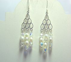 Sterling silverwhite seed pearl and by EllensTreasureTrove on Etsy