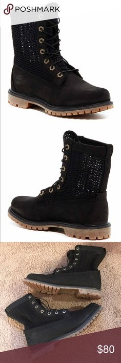 Timberland open weave boot Timberland Open Weave Boot in black only worn once. Size: (11W) Timberland Shoes Combat & Moto Boots
