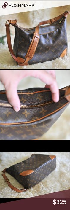 Authentic Louis Vuitton Monogram Boulogne Bag Authentic Louis Vuitton Monogram Boulogne shoulder Bag vintage. Has a small area where zipper is pulling away from bag (see photo). Stamped inside but no serial number. Slight pulling away under handle where zipper closes. Does not effect bag usage. 12 inches wide, 10 inches tall. Louis Vuitton Bags Shoulder Bags