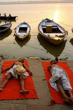 The Ganges in Varanasi is the holiest place in India. People come here to die to break the cycle of reincarnation.