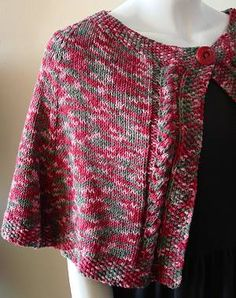 Bamboozle Cable Capelet & Wristers - free knitting pattern from Crystal Palace Yarns Shawl Patterns, Knitting Patterns Free, Free Knitting, Free Crochet, Knit Crochet, Crochet Patterns, Knit Shrug, Knitted Poncho, Capes
