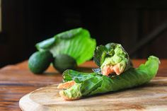 the wren and rabbit: cabbage wraps with smoked trout and avocado cream
