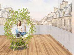 Garance Bourbier et Andréa Pérelle, étudiantes en 3e année de la section Architecture d'intérieur et Design d'environnement à LISAA Paris, ont remporté le 1er prix du concours Balcoon avec leur projet de mobilier extérieur, Oasis Urbain.