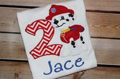Personalized Paw Patrol Birthday Shirt with by PerryWinklesEmb