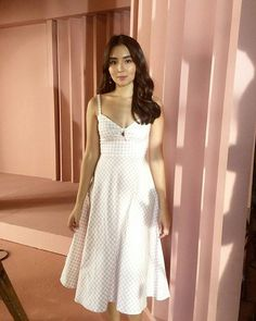 A simple lady in white White Outfits, Dress Outfits, Dresses, Kathryn Bernardo Outfits, Colin Ford, Daniel Padilla, Pinterest Fashion, Girl Crushes, Asian Beauty