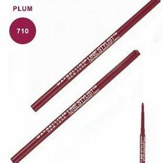 Maybelline Line Stylist Lipliner Plum by Maybelline. $3.95. Slant tip and slim-line barrel provide precision application and control for a perfectly defined lip look.. Creamy formula with Vitamin E glides on silky smooth. Wears for hours and hours. Automatically self sharpens. Prevents feathering and bleeding. Slant tip and slim-line barrel provide precision application and control for a perfectly defined lip look.Creamy formula with Vitamin E glides on silky smoothPrevents...