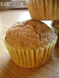 Muffins au germe de blé et aux bananes Muffins, Brunch, Biscuits, Healthy Recipes, Healthy Food, Breakfast, Desserts, Soy Milk, Treats