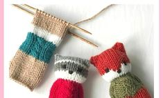 Knitting Blogs, Knitting For Kids, Baby Knitting Patterns, Knitted Animals, Forest Friends, Diy For Kids, Fingerless Gloves, Arm Warmers, Free Pattern