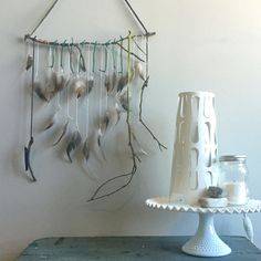 Feather, Twig & Leather wall hanging workshop // An adult DIY workshop in Charlotte, NC from Modern Craft Collective