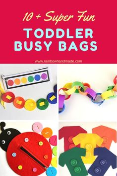 Toddler busy bags, Busy bags for toddlers, Toddler activities, Toddler games, www.rainbowhandmade.com