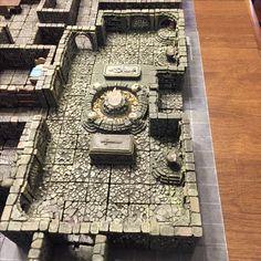 forge dwarven diorama dungeon tiles monastery hirst arts pathfinder minecraft builds games dungeons hobby game dragons