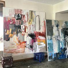 Studio walls via Painting Inspiration, Art Inspo, Painters Studio, Exhibition, Impressionism Art, Art Studios, Art And Architecture, Pretty Pictures, Lovers Art