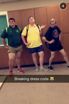 So my high school called everyone's homes yesterday to inform them that as of today, dress code will be strictly enforced and any girl wearing shorts that aren't of appropriate length would be sent home to change. They were checking shorts at the school's entrance today. This picture speaks for itself.