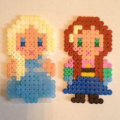 Elsa and Anna Frozen hama beads by nikknoo