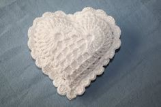 Heart Pincushion. I have one of these with heart soap inside, to keep in my lingerie drawer.