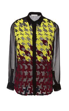 Silk Citrine Embroidery May Blouse by Mary Katrantzou Now Available on Moda Operandi