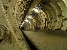 London Greenwich Foot Tunnel ..this goes under The Thames River from The Isle of Dogs to Greenwich...