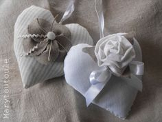 Linen hearts from France.