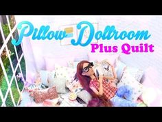 acf1aeea0708 DIY - How to Make  Dollhouse Pillow Room PLUS Quilt - Pinterest Doll Crafts  - 4K