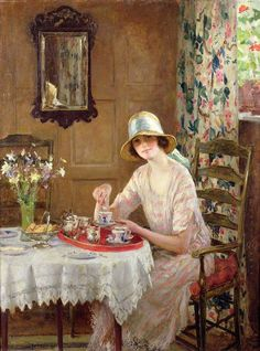 William Henry Margetson Afternoon Tea c.1926 Collezione Privata