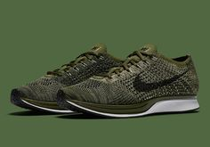 """acd5b53cb9a3 The Nike Flyknit Racer Gets a """"Rough Green"""" Update  http   www.freshnessmag.com 2016 10 20 nike-flyknit-racer-rough-green"""