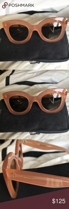 "CELINE ""Marta"" sunglasses in pale peach, CL 41093 Like new, only worn twice. Beautiful light peach color and super comfortable. Comes with glasses case and cleaning cloth (never used). Celine Accessories Sunglasses"