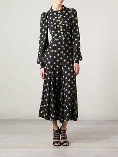 Biba Vintage Star Print Maxi Dress - - Farfetch.com