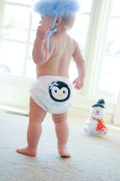 Penguin baby bloomers