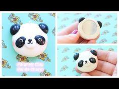 DIY Polymer Clay Panda Mirror Charm Tutorial - YouTube