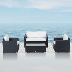 Outsunny 4pc Wicker Sofa Set Outdoor Patio Furniture PE Rattan Cushioned Seat  $411.66  $633.32  (30 Available) End Date: Apr 272016 07:59 AM GMT-07:00