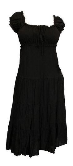 Amazon.com: eVogues Plus Size MidNight Black Cotton Empire Waist SunDress: Clothing
