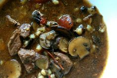 Slow Cooker Beef and Mushroom Stew