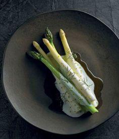 Asparagus, buttermilk, smoked oil