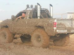 Gotta get a littl... Lotta mud on the tires!!!!oops missed a spot goin back around lol