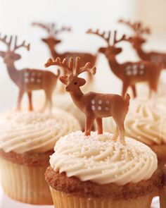 Buttercream cupcakes were each topped with miniature plastic deer for a hit of wildlife whimsy.Cupcakes, $2.75 each, onegirlcookies.com.