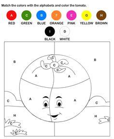 ESL-EFL Worksheets, Kindergarten Worksheets, Color by Letter Worksheets