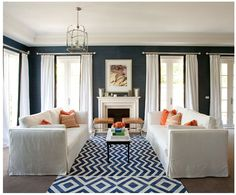 living room drapery concept | turquoise ribbon