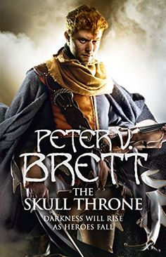 The Skull Throne (The Demon Cycle, Book 4)  The Skull Throne of Krasia stands empty.  Built from the skulls of fallen generals and demon princes, it is a seat of honour and ancient, powerful magic, keeping the demon corelings at bay. From atop the throne, Ahmann Jardir was meant to conquer the known world, forging its isolated peoples into a unified army to rise up and end the demon war once and for all.